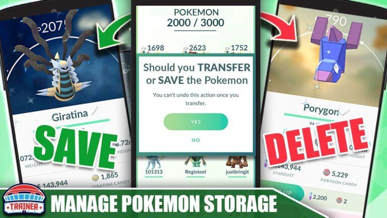 HOW TO MANAGE YOUR POKÉMON STORAGE LIKE A PRO! SAVE OR TRANSFER THESE POKÉMON 2020   Pokémon GO