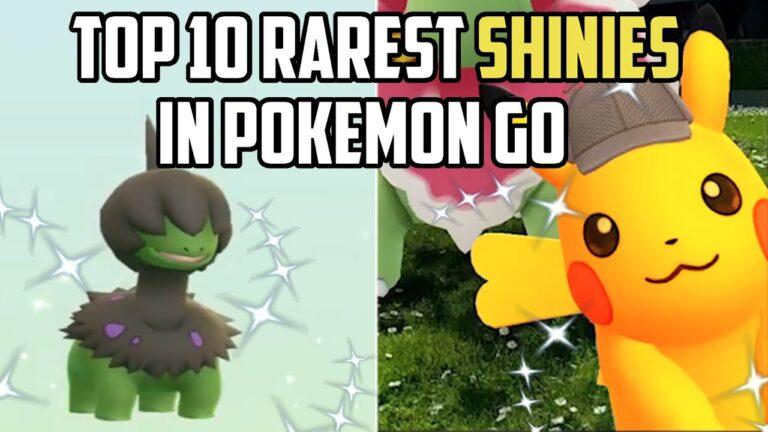 Top 10 Rarest Shiny Pokemon in Pokemon Go!