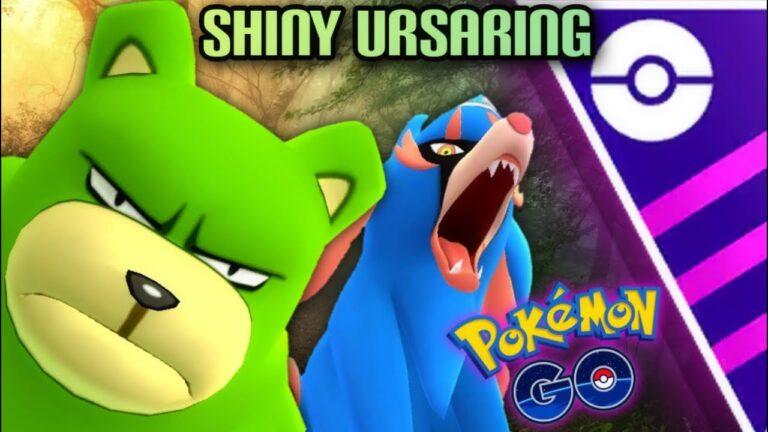 Shiny Ursaring & Zacian in Master GO Battle League for Pokemon GO // YES URSARING IN MASTER LEAGUE