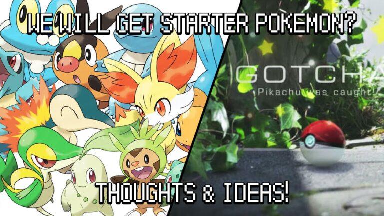 Pokemon Go News Update: Will We Recive Starter Pokemon? Thoughts & Ideas!