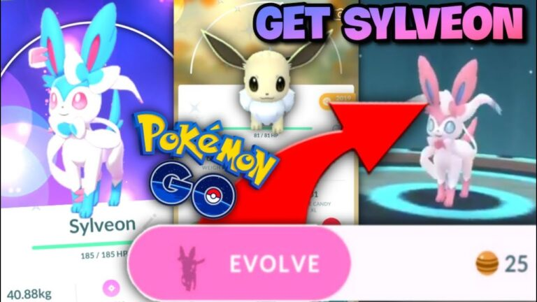 How to Evolve Eevee into Sylveon in Pokemon GO // How good is it // Sylveon Name Trick
