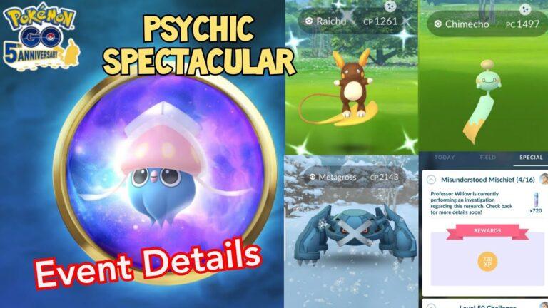 PSYCHIC SPECTACULAR EVENT 2021 – NEW POKEMONS DEBUT IN POKEMON GO & MORE!!