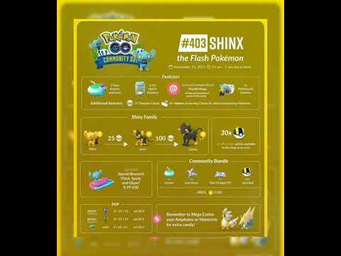 ⚡ SHINX ⚡**COMMUNITY DAY** Pokemon Go #news #pokemon #shorts #pokemongo #trending