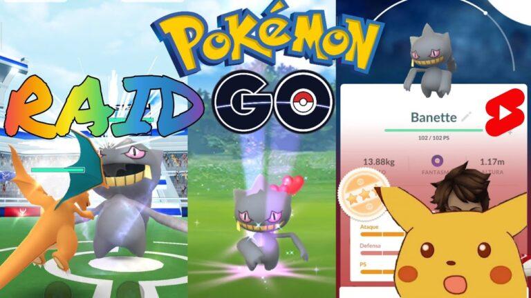 Raid Banette – Pokémon GO incursión nivel 3 #Shorts
